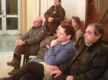 Pietro Sagristani nel pubblico assiste al Consiglio comunale del 4 gennaio 2011