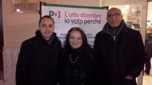Lucia Gargiulo con i consiglieri A. Coppola e P. Gnarra (S.Agnello)