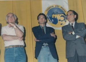 A. Russo in mezzo tra Vittorio d'Esposito e Geppino Russo (1993)