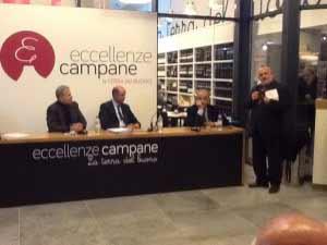 Napoli - Corrado Passera con Carlo Borgomeo e Antonio Lubritto