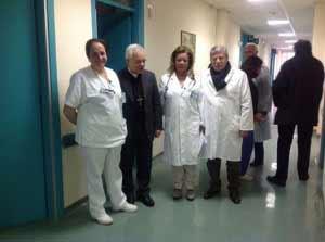 Vescovo Alfano con i Sanitari sorrentini