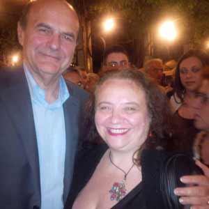 Bersani con Lucia Gargiulo