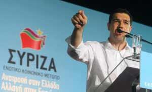 SYR13.- ATENAS (GRECIA), 14/06/2012.- El líder del partido de coalición de la izquierda radical Syriza, Alexis Tsipras, asiste hoy, jueves 14 de junio de 2012, a un evento preelectoral en Atenas (Grecia), tres días antes de las elecciones parlamentarias en el país. EFE/ ALEXANDROS VLACHOS