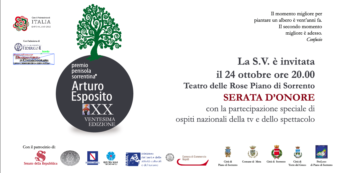 Invito Ventennale Premio Penisola Sorrentina Arturo Esposito
