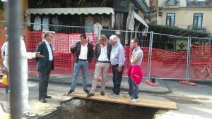 Scavo a Piazza Tasso - Foto di L. De Pasquale