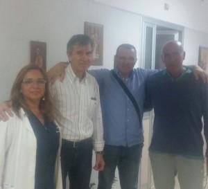 Pietro Gnarra e Cristina D'Esposito con i prof. De Toma e Confuorto