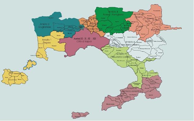 Provincia Di Napoli Cartina.Napoli Cartina Politica