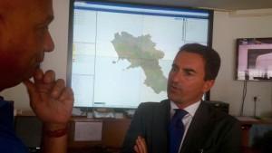 Il Consigliere Alfonso Longobardi nella sala regionale