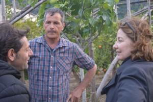 Giovanni Ferraro con Claudio d'Esposito e la regista Francesca Topi