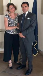 Laura Del Pezzo con Alfonso Longobardi