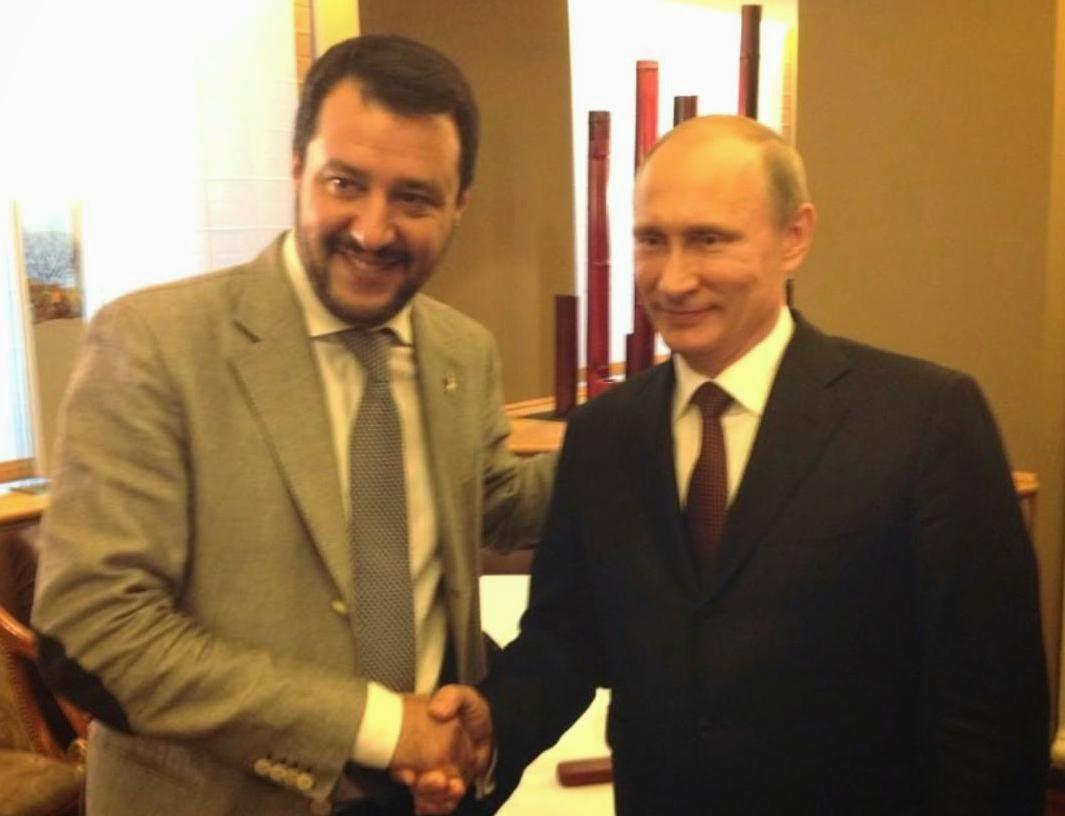 Risultati immagini per Salvini e Putin