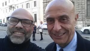 Lello Pane con Marco Minniti
