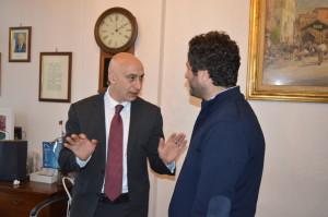 Vincenzo Iaccarino con Marco d'Esposito