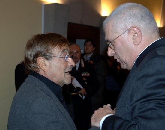 Lucio Dalla e Raffaele Lauro (2006, Foto Gargiulo)