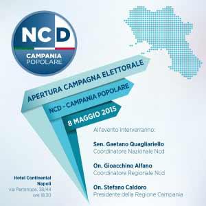 invito presentazione dei candidati della lista Ncd-Campania Popo