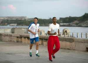 Renzi fa il footing a Cuba
