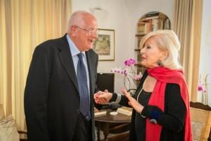 Raffaele Lauro con Violetta Elvin, nel 2015 (Foto M. Martucci)