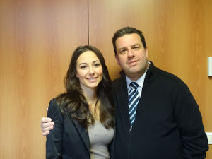 Daniela Gianna col Sindaco Buonocore (Foto Viconline)