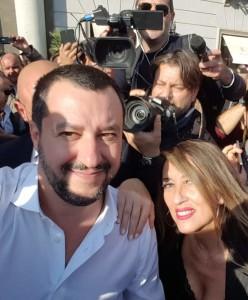 Clara Rolla con Salvini