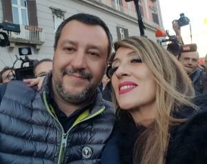 Clara Rolla e Matteo Salvini