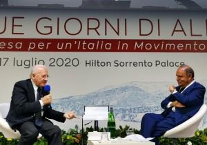 Vincenzo De Luca e Bruno Vespa all'Hilton Sorrento Palace