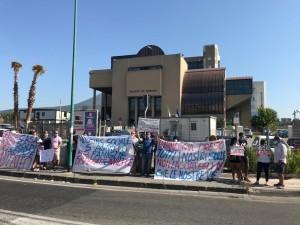 Protesta al Tribunale di Torre Annunziata